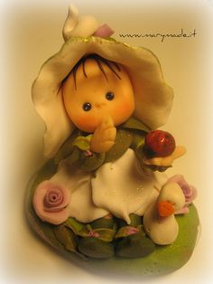 *POLYMER CLAY ~ Flower Fairy and her friends by marytempesta, via Flickr