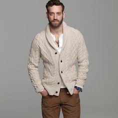 Men's Hand Knitted Cardigan XS,S,M,L,XL,XXL jacket Wool Hand Knit sweater 1 #Handmade #Cardigan