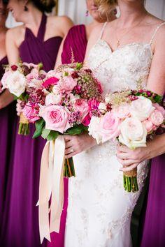 Photography : Dana Cubbage Weddings | Florals : Wildflowers Inc. | Bridesmaids Dresses : Joanna August | Wedding Dress : Enzoani Read More on SMP: http://www.stylemepretty.com/south-carolina-weddings/charleston/2015/11/30/berry-gold-charleston-fall-wedding/