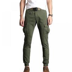 Cargo Pants Men Slim Close Stretch Fabric //Price: $36.65 & FREE Shipping // #jewelry #styles #eyes Black Khaki Pants, Stretch Pants, Stretch Fabric, Cargo Pants Men, Ankle Length Pants, Body Size, Spandex Material, Fashion Pants