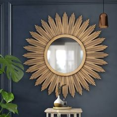 Decorating with Mirrors Gold Wall Decor, Modern Wall Decor, Contemporary Wall Mirrors, Modern Contemporary, Country Wall Mirrors, Gold Sunburst Mirror, Sunburst Clock, Circular Mirror, Mirrors Wayfair