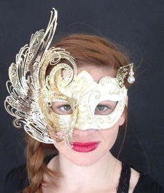 From general topics to more of what you would expect to find here, venetian-mirrors. Halloween Masks, Halloween Face Makeup, Venetian Masquerade Masks, Butterfly Mask, Venetian Mirrors, Mardi Gras, Swarovski Crystals, Masquerades, Gold