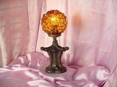 ART DECO VINTAGE 3 GRACES METAL NUDE LADY FIGURES TABLE LAMP LIGHT NUART ?? NR