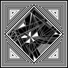 Dynamic black and white, organic abstract
