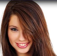 copper highlights in dark brown hair, possible color
