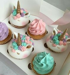 Ideas For Cupcakes For Kids Party Birthday Treats Unicorn Foods, Cute Cakes, Cupcake Cookies, Cakes And More, Let Them Eat Cake, Amazing Cakes, Cake Decorating, Decorating Ideas, Sweet Treats