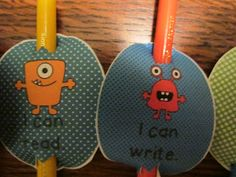 """I Can"" Pencil toppers"