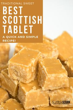 How to Make Traditional Scottish Tablet -    Tablet   Scottish Tablet   Easy Tablet Recipe   Scottish Recipes   Scottish Desserts   Easy Scottish Recipes   Homemade Scottish Recipes   Scottish Sweets   #Scottishtablet   #scottishrecipes   #Tablet Fudge Recipes, Candy Recipes, Baking Recipes, Dessert Recipes, Dinner Recipes, Christmas Desserts, Christmas Baking, Irish Christmas, Christmas 2019