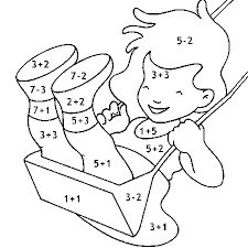 Exercises for children Addition fun to learn Spanish 24 Math Activities For Kids, Math For Kids, Preschool Worksheets, Kindergarten Activities, Preschool Activities, Kids Learning, 1st Grade Worksheets, Color By Numbers, Kids Education