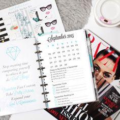 FREE September Printable Planner Dashboard