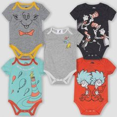 In honor of Dr. Seuss's birthday on March Target just released a collection of clothes in his honor. Baby Outfits, Kids Outfits, Newborn Outfits, Unisex Baby Clothes, Baby Kids Clothes, Target Clothes, Baby Bodysuit, Future Baby, Short