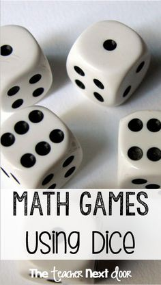 FREE, fun list of math games for - grades using dice to practice place value, fractions, and measurement and data. Students love playing these games and it provides effective math computation practice. Math Strategies, Math Resources, Math Activities, Math Enrichment, Fourth Grade Math, Second Grade Math, Grade 3, Math Stations, Math Centers