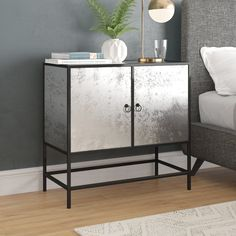 New Savings are Here! Off Fellows Accent Cabinet By Brayden Studio Loft Furniture, Mirrored Furniture, Accent Furniture, Living Room Furniture, Mirrored Table, Media Storage, Storage Spaces, Eclectic Style, Living Room Modern