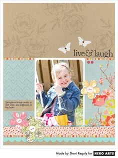 Like the stamping on the kraft cardstock with the pattern paper and picture