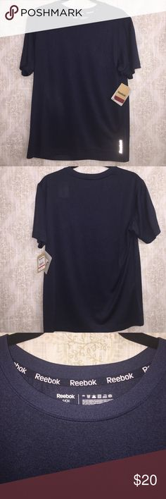 Reebok S/S Super Sonic Top Reebok Sport Classic Cut Shirt. Color: Navy Heather.  100% polyester. Wash cold tumble dry low. Reebok Shirts Tees - Short Sleeve