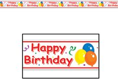 Happy Birthday Party Tape Case Pack 12