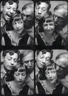 Jean-Aurenche,-Marie-Berthe-Aurenche-et-Max-Ernst from Artists' Photo booth . Surrealists and the Photomaton Max Ernst, Album Photo Vintage, Vintage Photo Booths, Lee Miller, Magritte, Old Pictures, Old Photos, Vintage Photography, Portrait Photography