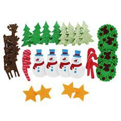 EVA Christmas Embellishments - Pack Of 32