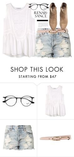"""""""What are we doing? You and me, us."""" by alexandra-provenzano ❤ liked on Polyvore featuring Ray-Ban, MANGO, Evil Twin, Valentino and H&M"""