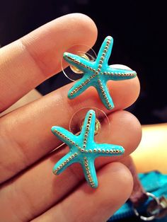 cute starfish earrings