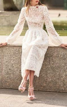 Prom Dresses Chic Evening Dress Beautiful Evening Dress Source by unknownuseron Beautiful Prom Dresses, Elegant Dresses, Pretty Dresses, Elegant White Dress, Dress Vestidos, Dream Dress, Dress Up, Dress Lace, Chic Dress