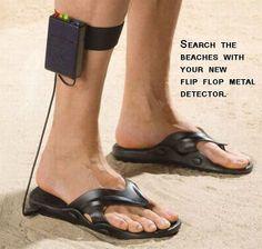 metal detector sandals; gadget; shoes.