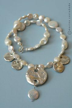 collar con perlas de rio y plata