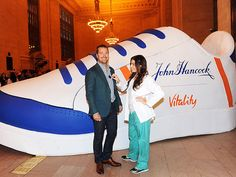 Star Tracks: Thursday, April 9, 2015 | DOCTOR'S ORDERS | All is well for Chris O'Donnell, who gets a quick exam while visiting the John Hancock Vitality Village in New York City's Grand Central Terminal on Wednesday.