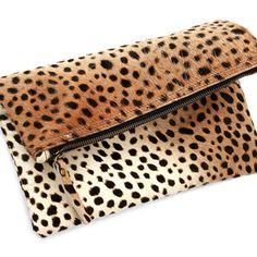 Leopard Print Fold Over Clutch by BabyBox on Opensky