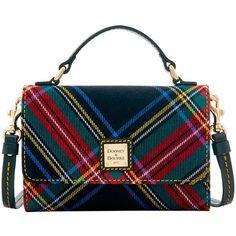 Dooney Bourke Tartan Small Mimi Crossbody (91.940 CRC) ❤ liked on Polyvore featuring bags, handbags, shoulder bags, tartan purse, blue handbags, blue crossbody purse, crossbody shoulder bags and plaid purse