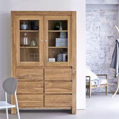 Teak kitchen dressers - Eden kitchen dressers sale at Tikamoon Solid Wood Furniture, Vintage Furniture, Teak Plywood, Buffet Teck, Solid Wood Kitchens, Dressers For Sale, Kitchen Dresser, Teak Sideboard, Wood Cabinets