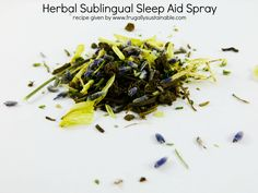 Natural Insomnia Remedy :: Make Your Own Herbal Sublingual Sleep Aid Spray