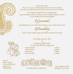 sikh wedding invitation wordings sikh wedding wordings sikh wedding
