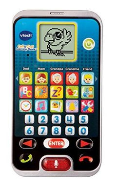 Call & Chat Learning Phone Your child's first smart phone. Features 15 App buttons plus a special Chat button and a fun chatty Parrot character who guides you through the activities and games. Amo...