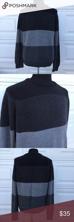 Men's Calvin Klein Sweater Medium Black/Grey XXL You're purchasing a Men's Calvin Klein Sweater Medium Black/Grey XXL. Gently used in very good condition.  See pics in measurements. Calvin Klein Jeans Sweaters Crewneck