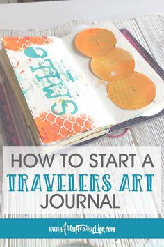 If you are looking for a fun (and portable) way to take your art journal with you, for sure you want to use a travelers notebook! Tips and ideas for how to set up and use a travelers notebook for your artwork. What Colors Make Orange, Creative Market Free, Uses For Mason Jars, Small Craft Rooms, Notebook Art, Magazine Collage, Artist Journal, Mixed Media Journal, Mixed Media Artwork