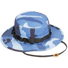 Light blue camouflage boonie hat