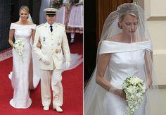Charlene Wittstock marrying Prince Albert II of Monaco, June 1, 2011.