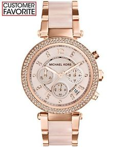 Michael Kors Women's Chronograph Parker Blush and Rose Gold-Tone Stainless Steel Bracelet Watch 39mm MK5896 -- want; no- NEED this