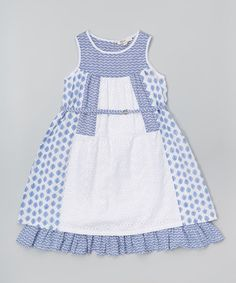 Loving this Blanc Drop-Waist Dress - Toddler & Girls on #zulily! #zulilyfinds