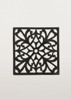 Take The Heat Off Your Table With This Black Chrome Trivet Ornamented Ornate Fl