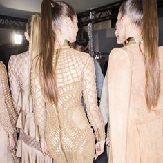Pony Show At Balmain - Balmain proved it's impossible for chokers and high ponytails togo out of style.