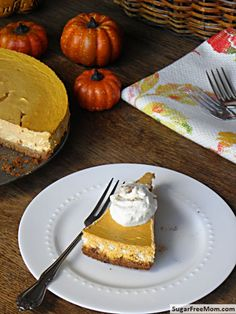 Pumpkin Cheesecake/ Lightened Up & Gluten Free