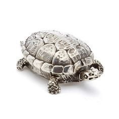 """Buccellati Turtle Box Handcrafted Sterling silver 4 1/2""""L Made in Italy More Details BUCCELLATI TURTLE BOX $ 620.00 628259"""