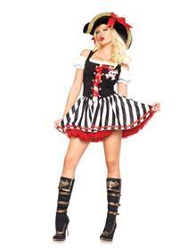 Skull Pirate Dress Adult Womens Costume