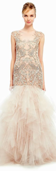 Marchesa ● SS 2014 ● Tulle Fishtail Gown