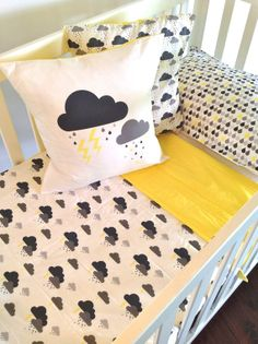 'Storm Cloud' nursery linens