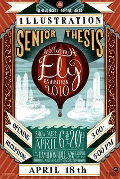 Senior thesis illustrated poster.