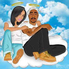 Tupac & Aaliyah art