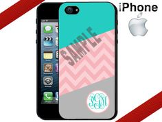 iPhone 4 Case  Geometric Teal Pink Chevron and by CrazianDesigns, $15.99